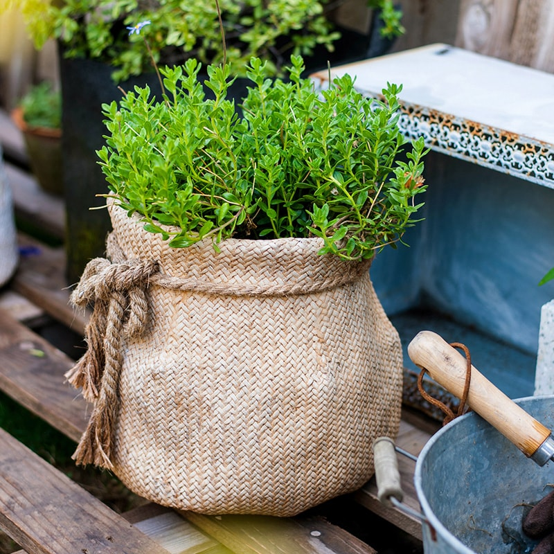 Ribbon Bag Style Concrete Garden Pot