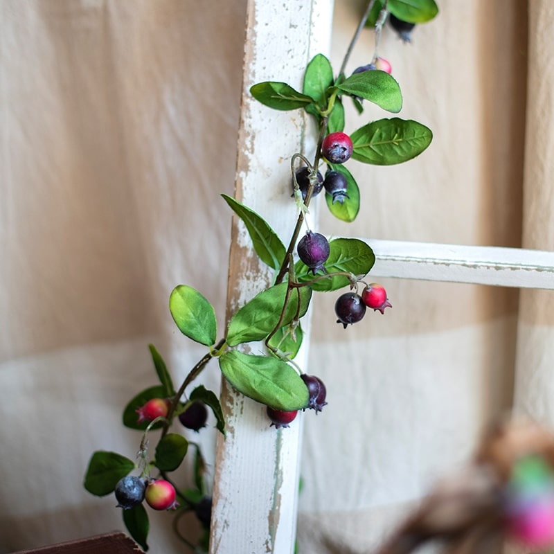 "Artificial Rose Hip Vine 49"" Long"
