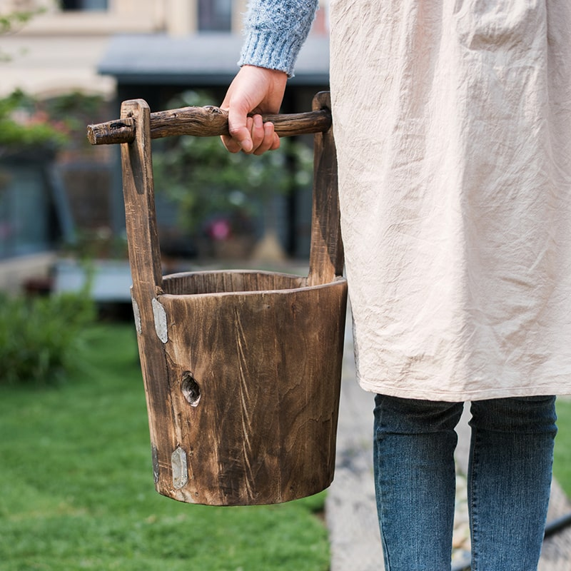 Solid Wood Carry Bucket