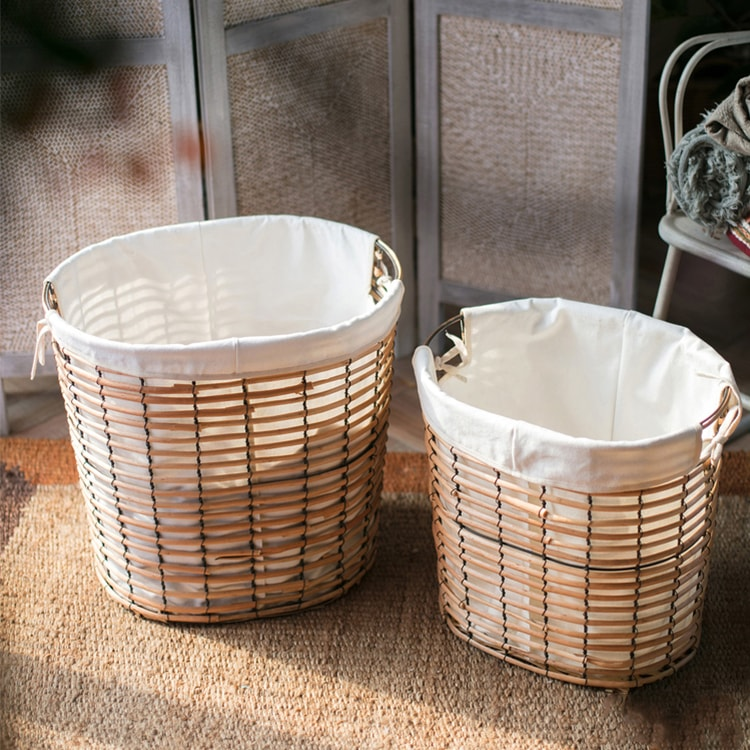 Willow Basket Zakka Organizer with Liner