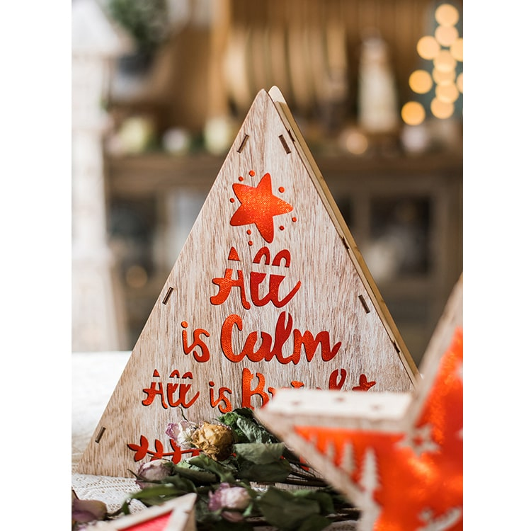 Christmas Decorative Light Box in Red