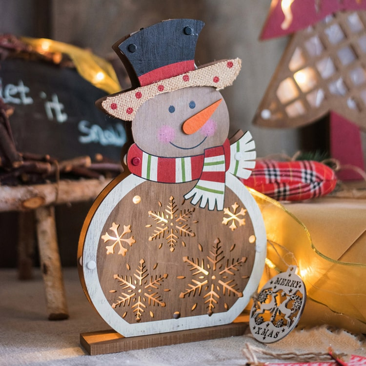 Christmas Decorative Wooden Light Box