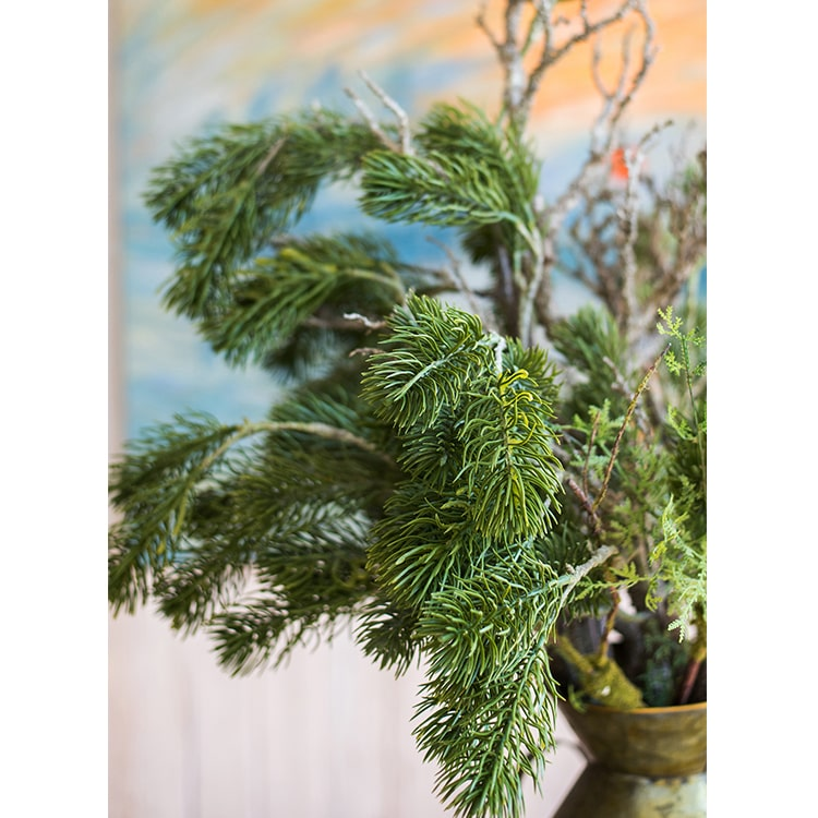"Christmas Artificial Pine Needle Stem 33.1"" Tall"