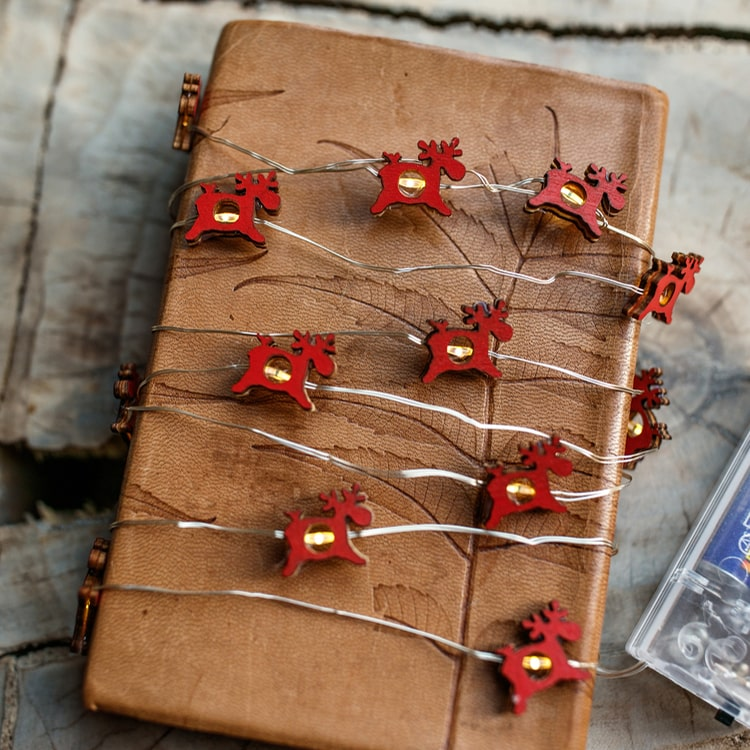 "Christmas Decorative Red Reindeer String Lights 78.7"" Long"