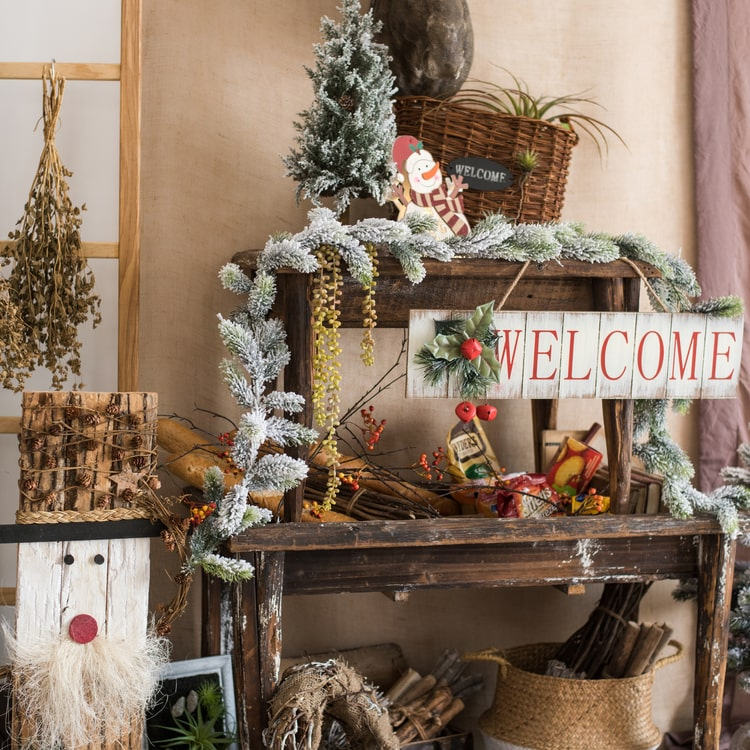 Christmas Welcome Sign Wooden Door Sign