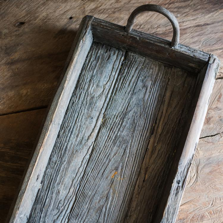 Antique Wood Tray RusticReach