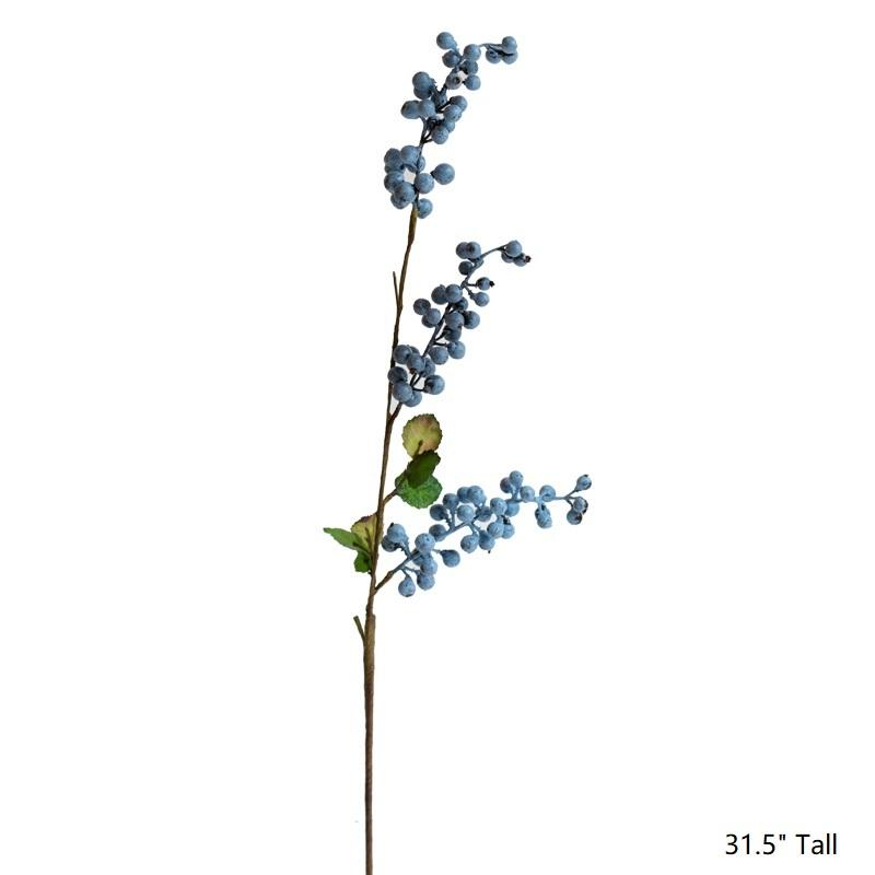 "Artificial Berry Stems in Various Colors 31"" Tall RusticReach"