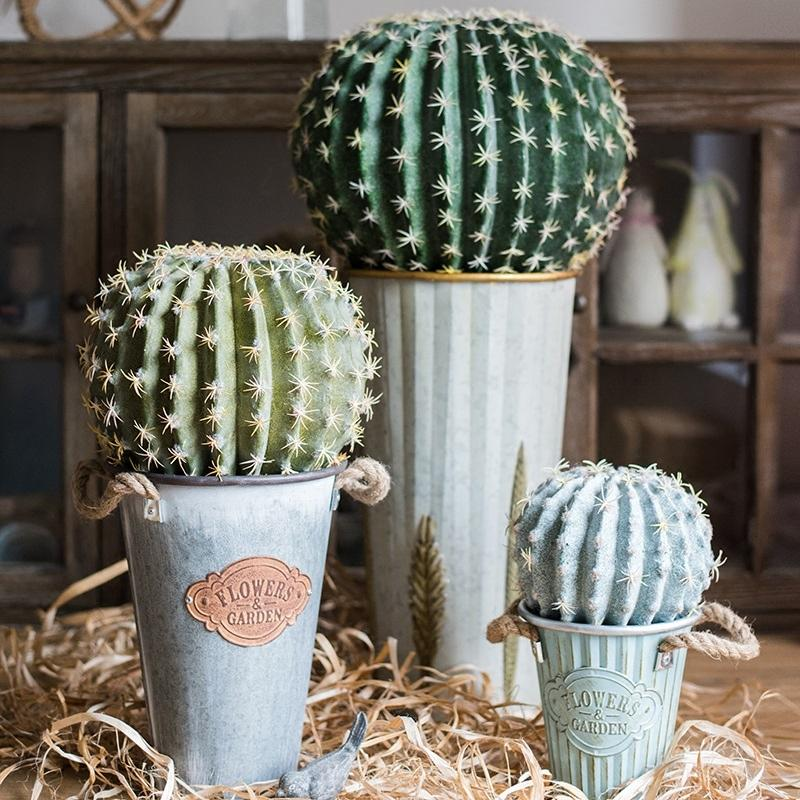 Artificial Cactus Ball RusticReach