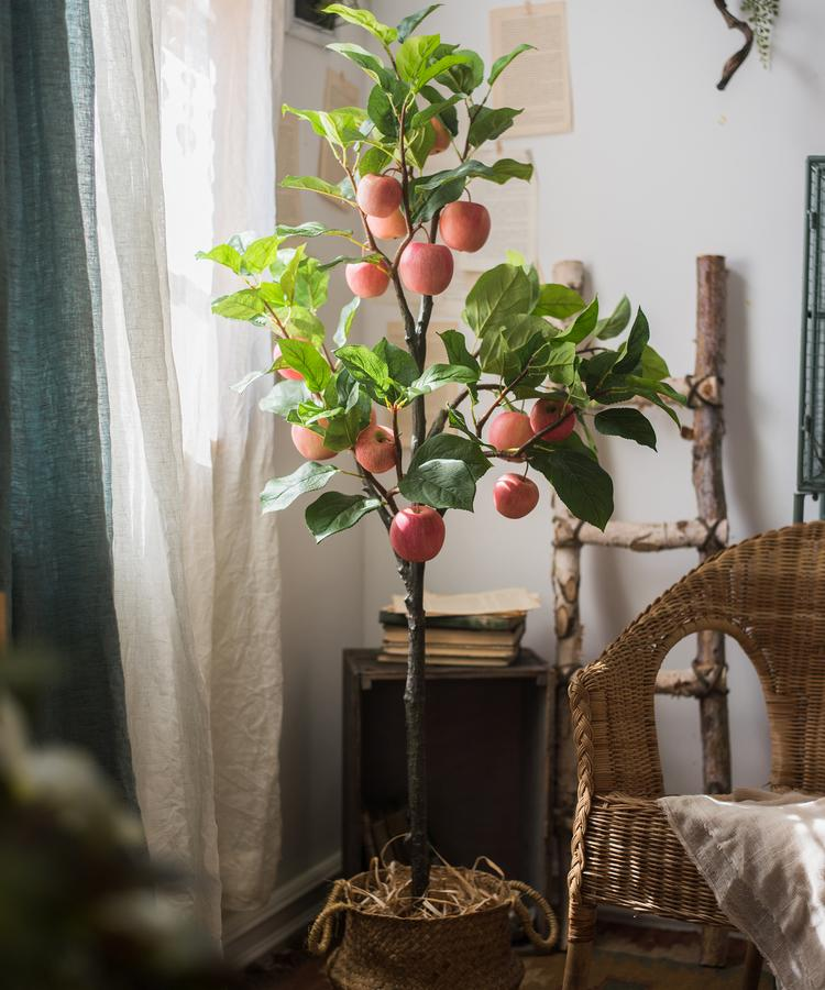 "Artificial Classic Apple Tree 59"" Tall RusticReach"