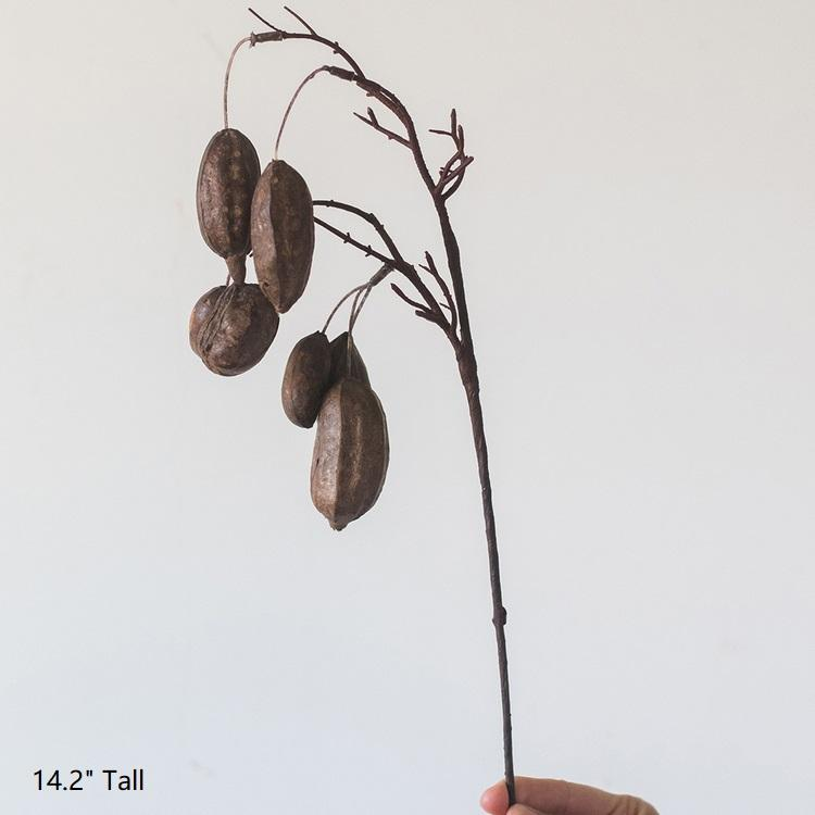 "Artificial Cocoa Branch Stem 14"" Tall RusticReach"