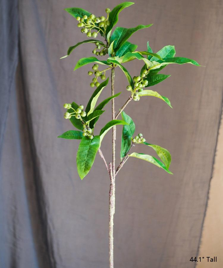 "Artificial Ficus Berry Leaf Stem 44"" Tall RusticReach"