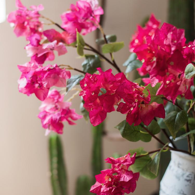 "Artificial Flower Bougainvillea Flower Stem 34"" Tall RusticReach"