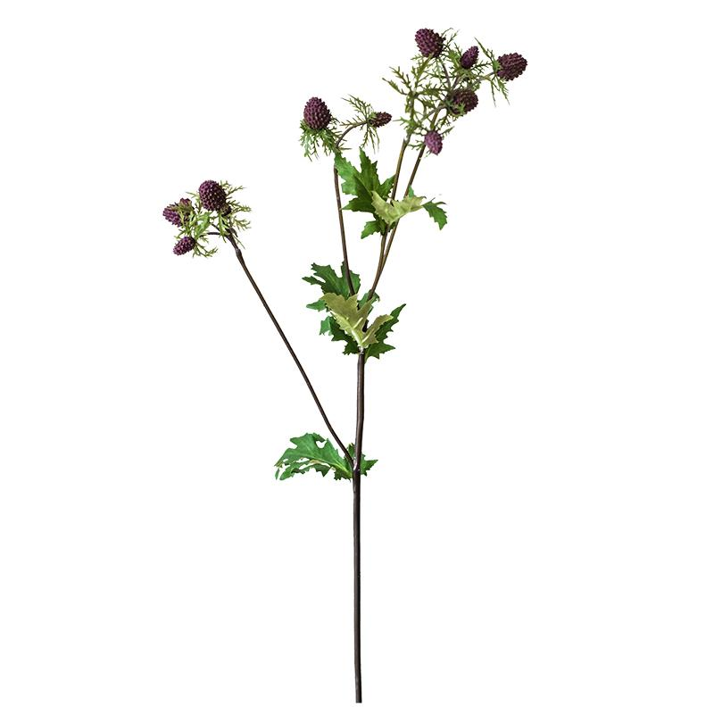 "Artificial Fruit Faux Mulberry Stem in Purple 22"" Tall RusticReach"