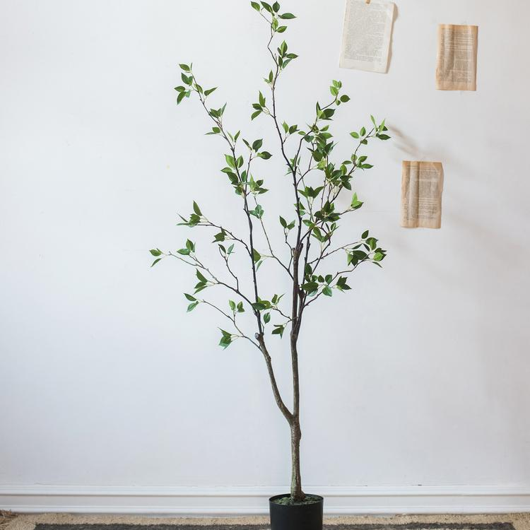 Artificial Green Leaf Tree RusticReach