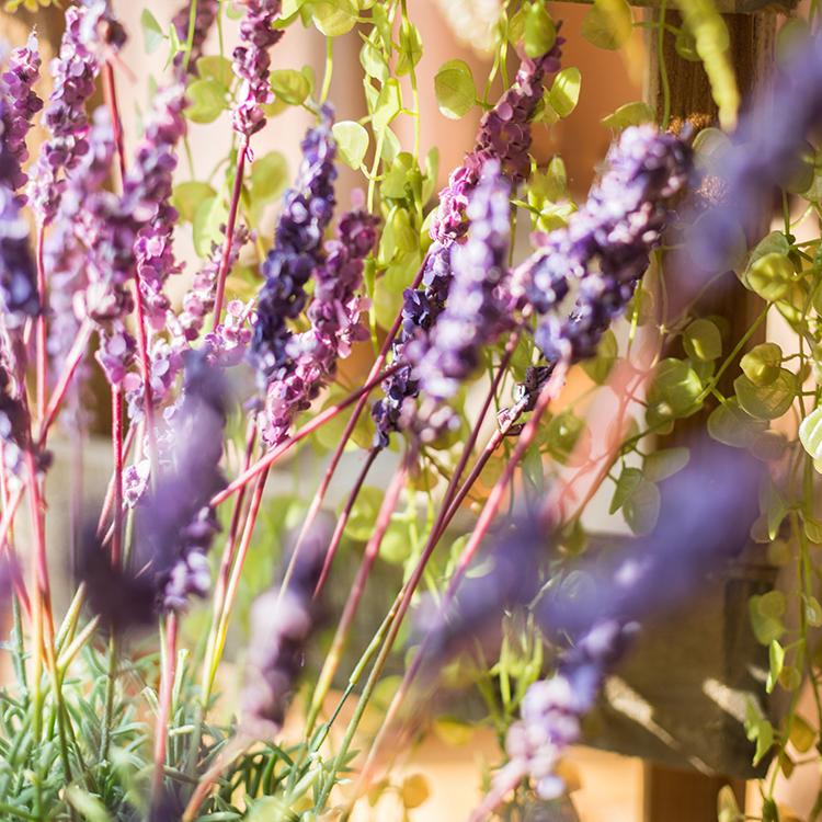 "Artificial Lavender Provence Lavender Stem 21"" Tall RusticReach"