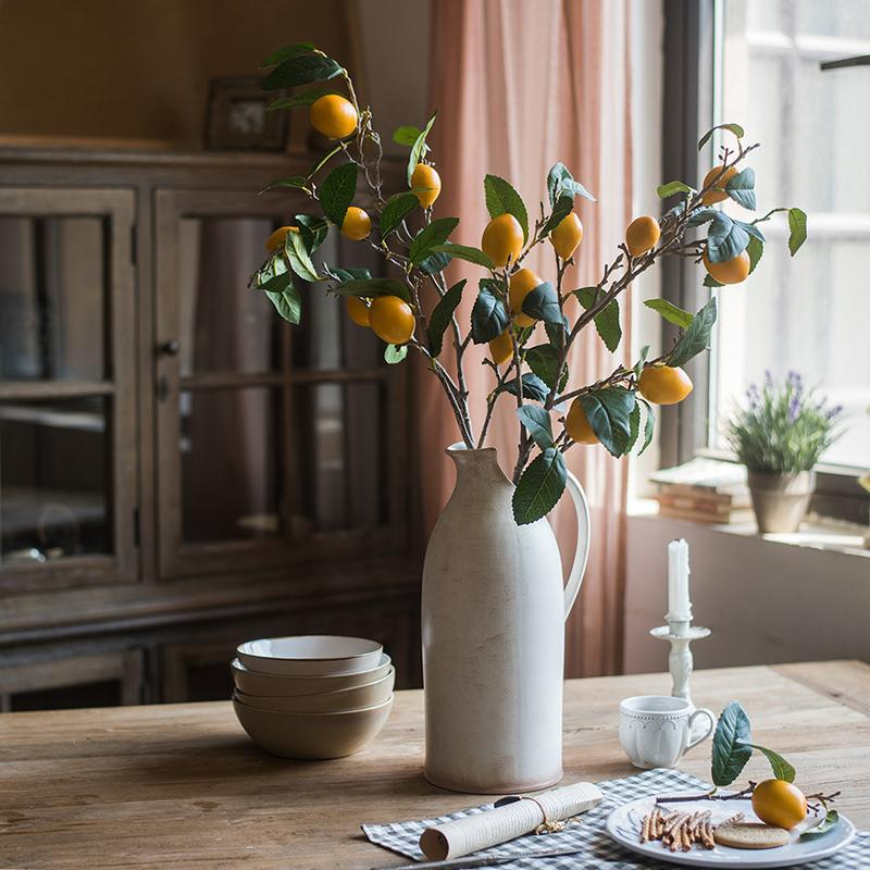 "Artificial Lemon Stem 39"" Tall RusticReach"