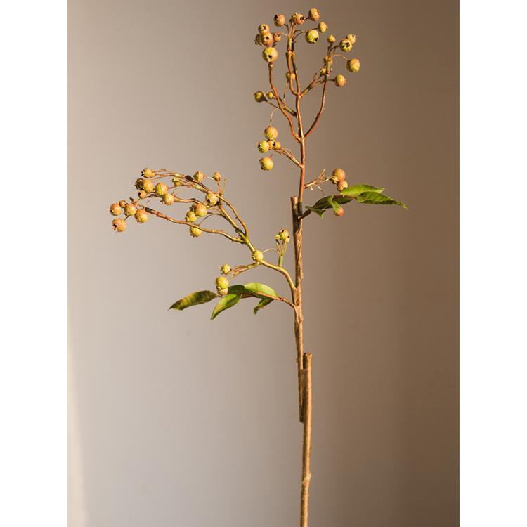 "Artificial Malus Baccata Stem in Green 22"" Tall RusticReach"