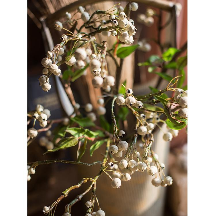 "Artificial Malus Baccata Stem in White 22"" Tall RusticReach"