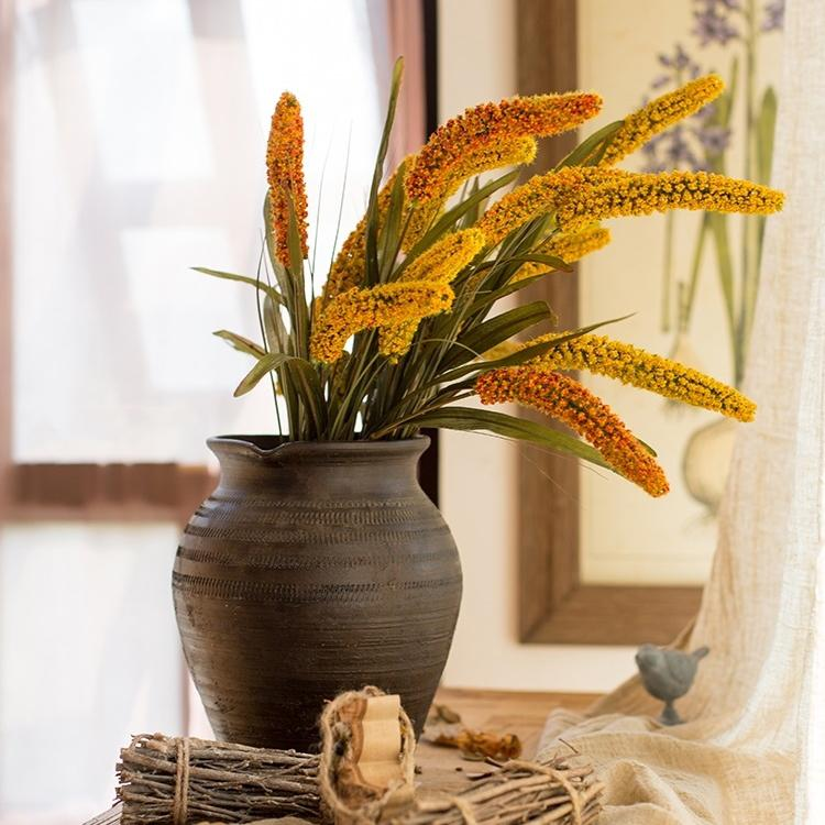 "Artificial Millet Stem 37"" Tall RusticReach"