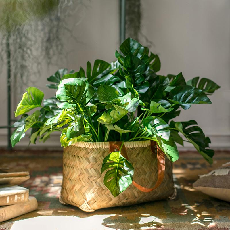Artificial Monstera Turtle Leaf Bunch RusticReach