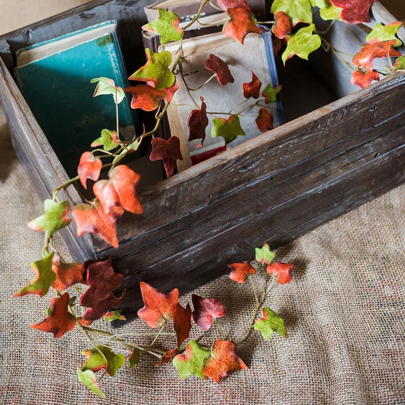 "Artificial Plant Autumn Ivy League Vine 43"" Long RusticReach"