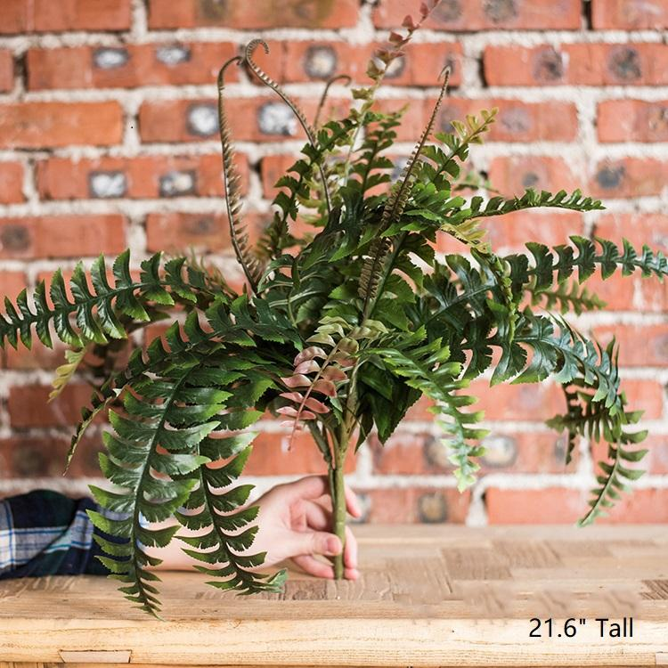 "Artificial Plant Big Rock Fern Stem 22"" Tall RusticReach"