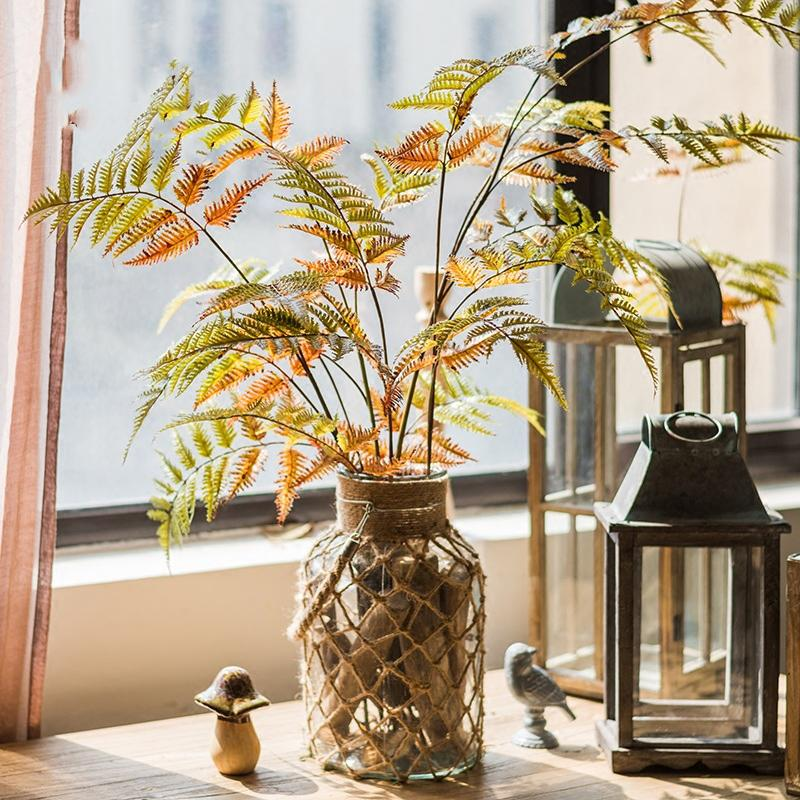 "Artificial Plant Cyathea Leaf Stem 34"" Tall RusticReach"