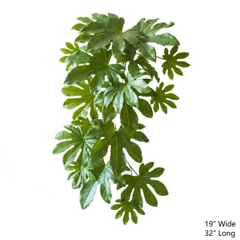 "Artificial Plant Fatsia Leaf Vines 32"" Long RusticReach"