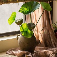 Artificial Plant Lotus Seed and Leaf Stem in Various Sizes