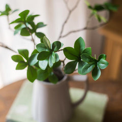 Artificial Plant Small Japanese Zen Leaf Stem 18