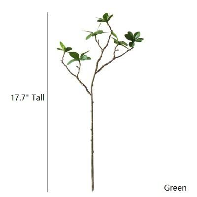 "Artificial Plant Small Japanese Zen Leaf Stem 18"" Tall RusticReach"