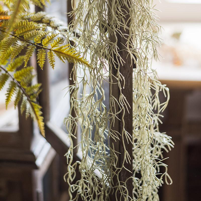 "Artificial Plant Spanish Moss Vines 42"" Long RusticReach"