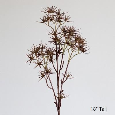 "Artificial Plant Star Thorn Plant Stem 18"" Tall RusticReach"