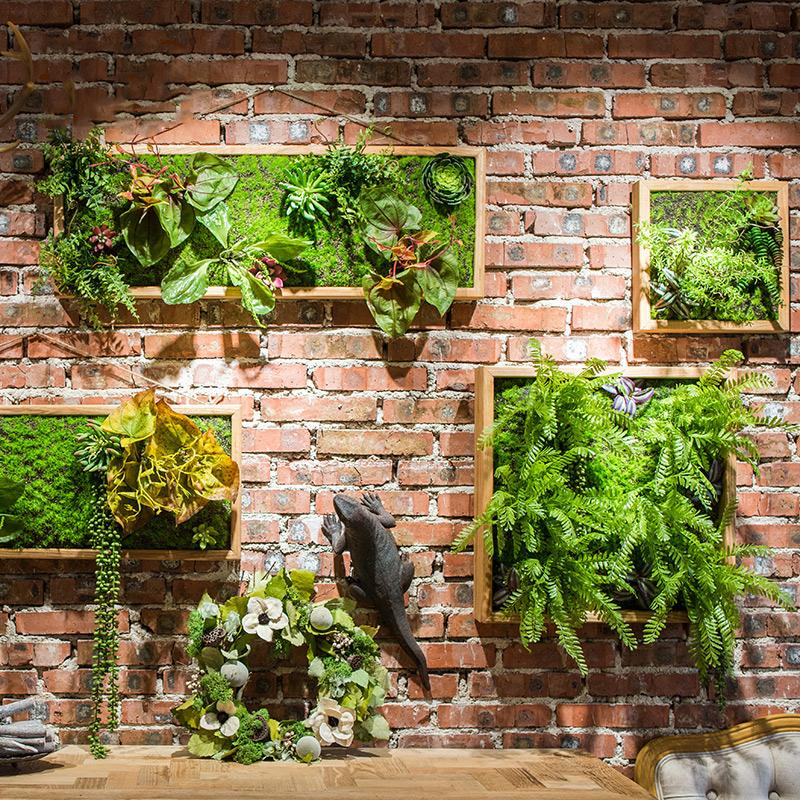 Artificial Plant Succulent Wall Art RusticReach