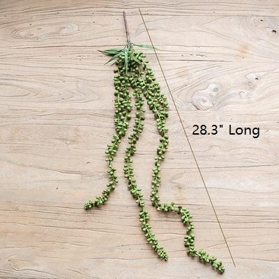 "Artificial Plant Tear Drop Hanging 28"" Long RusticReach"