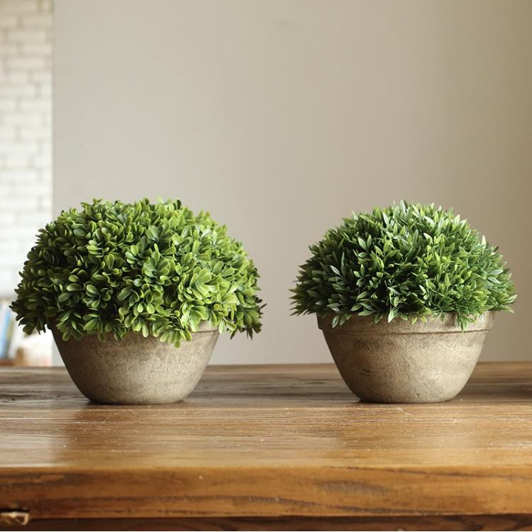 Artificial Potted Boxwood Faux Topiary RusticReach
