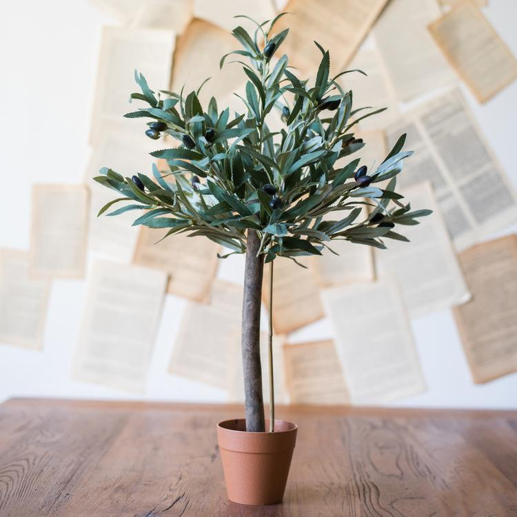 "Artificial Small Olive Tree 24"" Tall RusticReach"