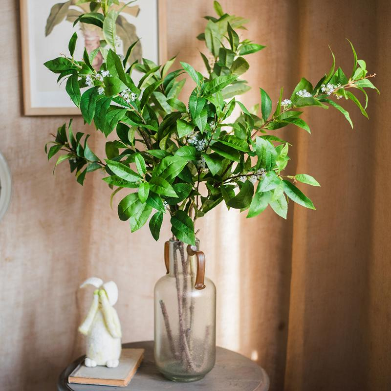 "Artificial Sweet Osmanthus Leaf Stem 46"" Tall RusticReach"