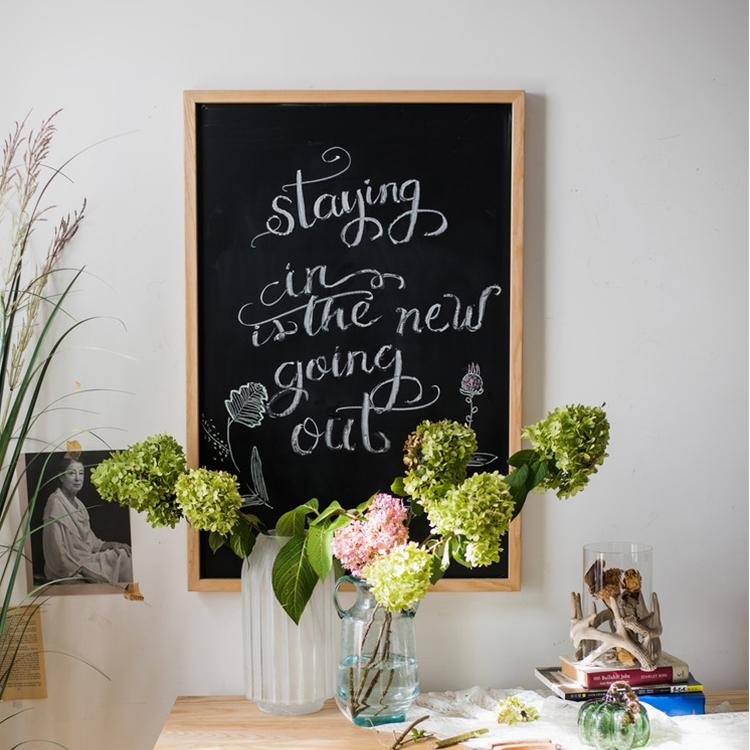 Black Magnetic Chalk Board With Solid Wood Frame Rusticreach