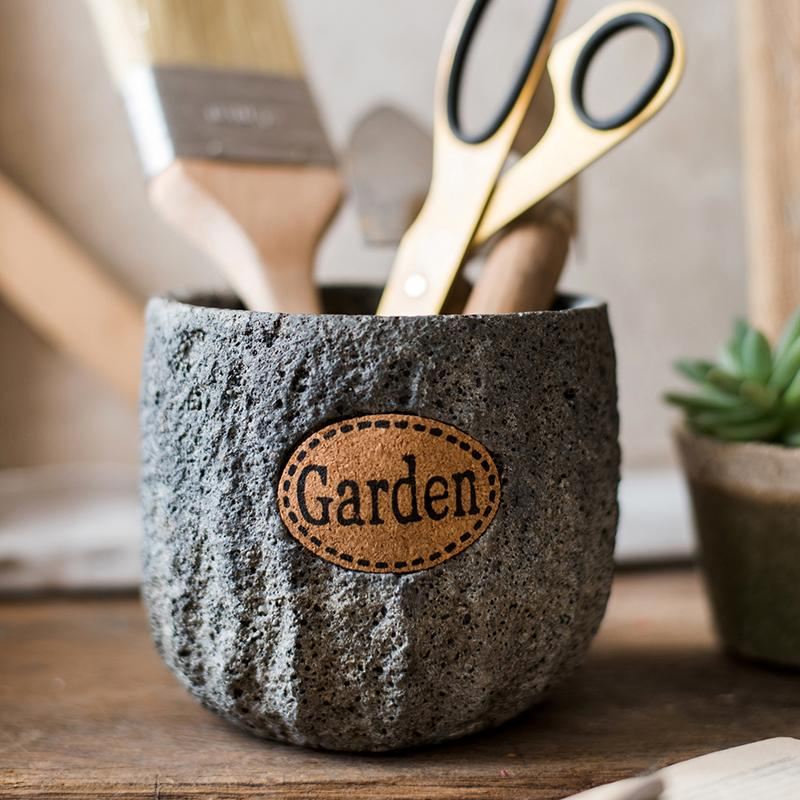 Cement Stone Tiny Garden Planter RusticReach