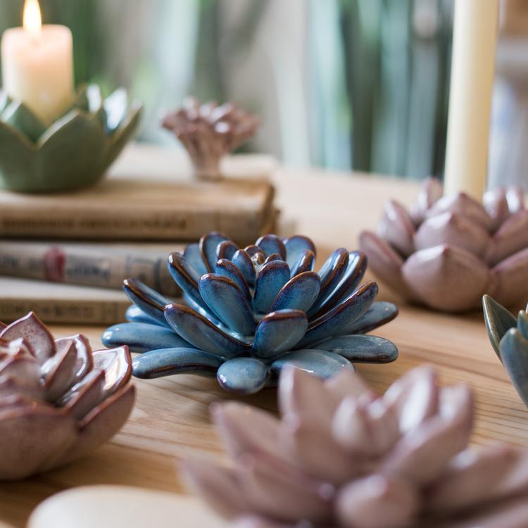Ceramic Floral Table Accents RusticReach