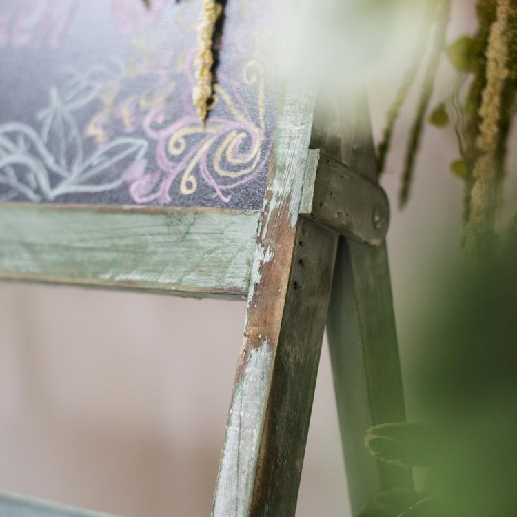 Chalkboard 'Garden' Easel Display RusticReach