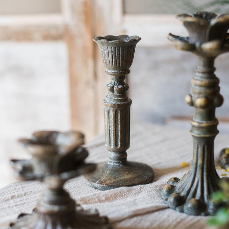Classic French Candlestick Holder RusticReach