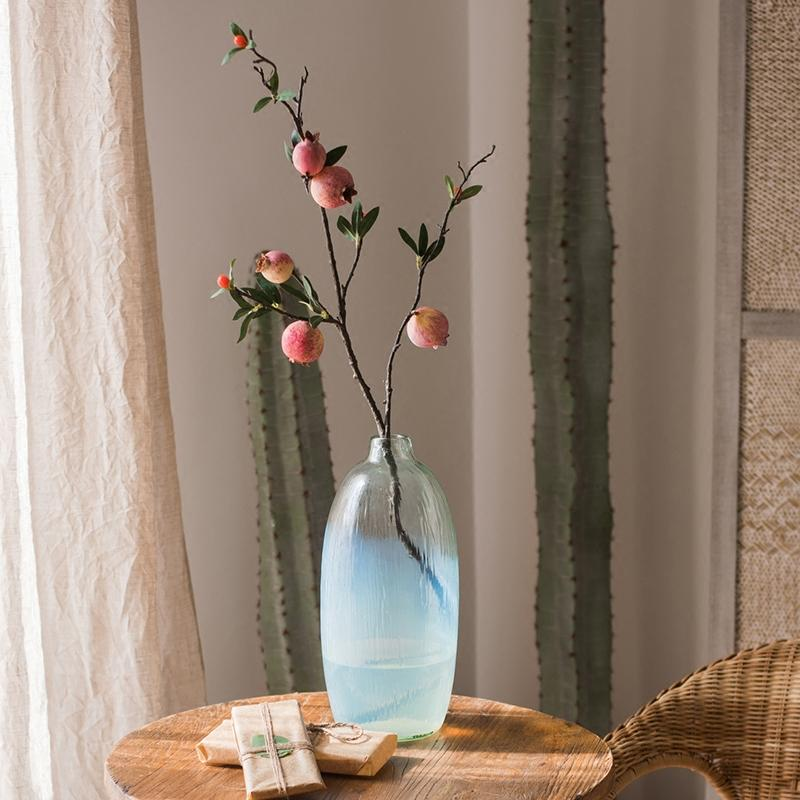 "Colorful Pomegranate Stem 38"" Tall RusticReach"