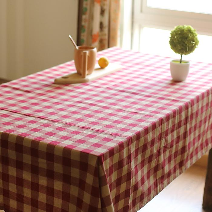 Cotton Tablecloth Check Pattern RusticReach