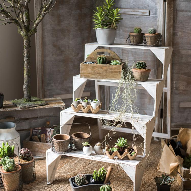 Decorative Eggshell Style Cement Planter RusticReach