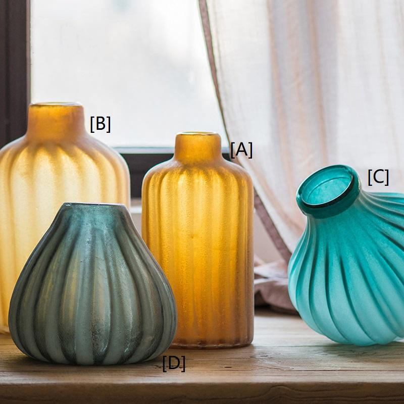 Glass Vase Hand Blown Frosted Art Glass RusticReach