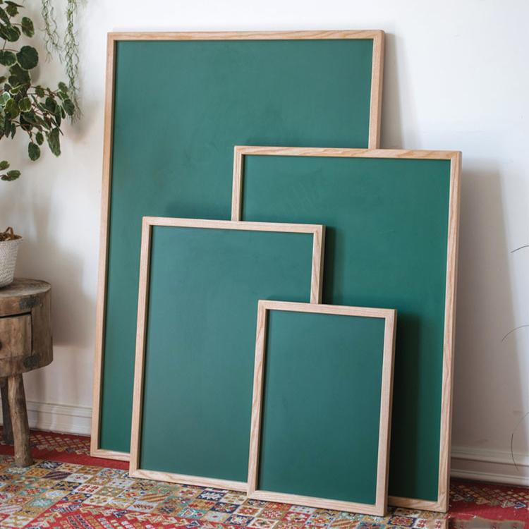 Green Magnetic Chalk Board with Solid Wood Frame RusticReach