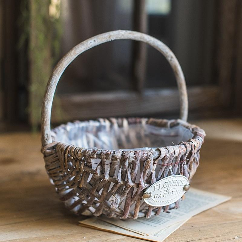 Handmade Willow Basket with Carry Handle (Set of 2) RusticReach