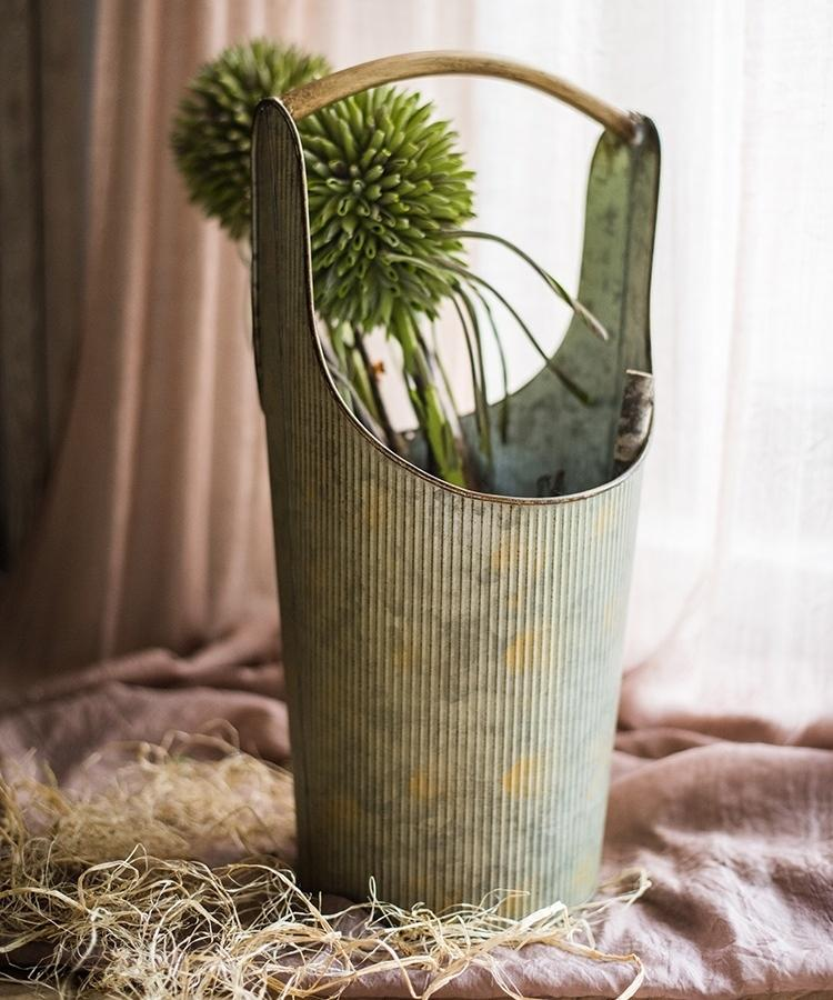 Iron Carry Pot Old Fashion Flower Pot RusticReach